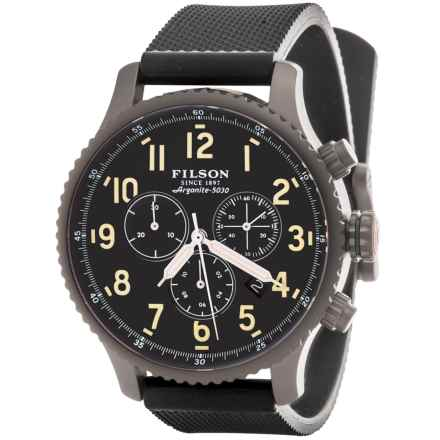 Filson Mackinaw Chronograph Field Watch - Rubber Band (For Men) in Grey/Black - Closeouts
