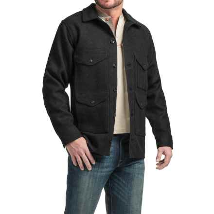 Filson Mackinaw Cruiser Wool Jacket - Extra Long (For Men) in Black - Closeouts