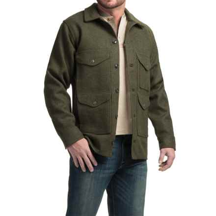 Filson Mackinaw Cruiser Wool Jacket - Extra Long (For Men) in Forest Green - Closeouts
