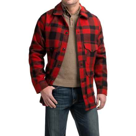 Filson Mackinaw Cruiser Wool Plaid Jacket (For Men) in Red/Black Plaid - Closeouts