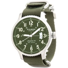 Filson Mackinaw Field Watch - Nylon Band (For Men) in Green/Stainless/Green - Closeouts