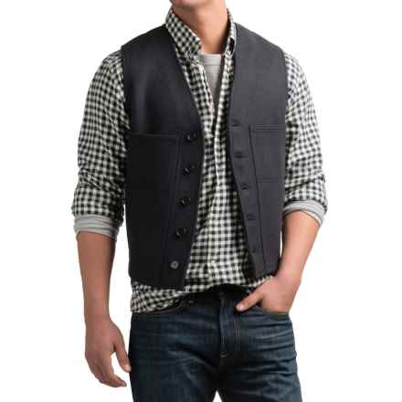 Filson Mackinaw Vest - Virgin Wool (For Men) in Navy - Closeouts