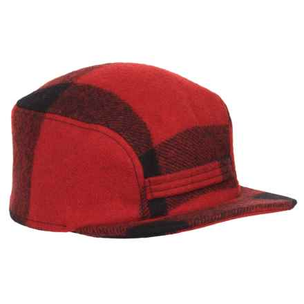 Filson Mackinaw Wool Cap - Ear Flaps, Insulated (For Men and Women) in Red/Black - Closeouts