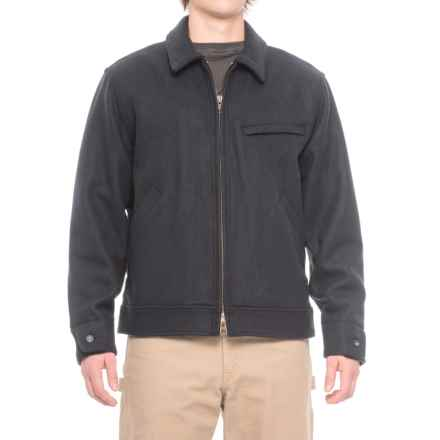 Filson Mackinaw Work Jacket - Wool (For Men and Big Men) in Navy - Closeouts