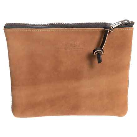 Filson Medium Rugged Leather Pouch in Saddle Brown - Closeouts