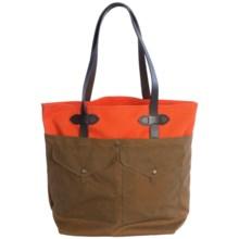 Filson Medium Tote Bag with Pockets in Russet Orange/Dark Tan - Closeouts