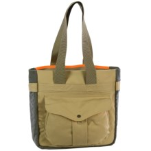 Filson Mesh Game Tote Bag in Tan/Blaze Orange - Closeouts