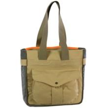 Filson Mesh Game Tote Bag in Tan/Blaze Orange - Closeouts
