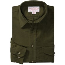 Filson Moleskin Shirt - Long Sleeve (For Men) in Dark Green - Closeouts