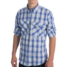 Filson No. 3 Fishing Shirt - UPF 50, Long Sleeve (For Men) in Blue Plaid - Closeouts