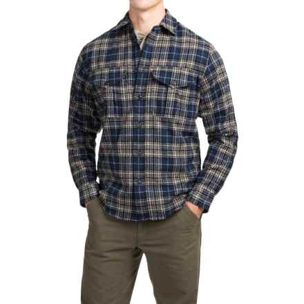 Filson Northwest Wool Shirt - Long Sleeve (For Men) in Dark Blue - Closeouts
