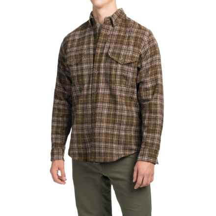 Filson Northwest Wool Shirt - Long Sleeve (For Men) in Dark Tan - Closeouts