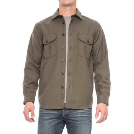 Filson Northwest Wool Shirt - Long Sleeve (For Men) in Forestry - Closeouts