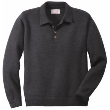 Filson Polo Sweater - Merino Wool (For Men) in Charcoal - Closeouts