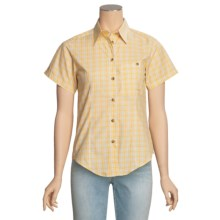 Filson Prairie Cotton Plaid Shirt - Short Sleeve (For Women) in Yellow Multi - Closeouts