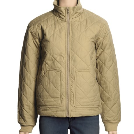 Filson Quilted Jacket - Peached Cotton Canvas (For Women) in Dark Tan