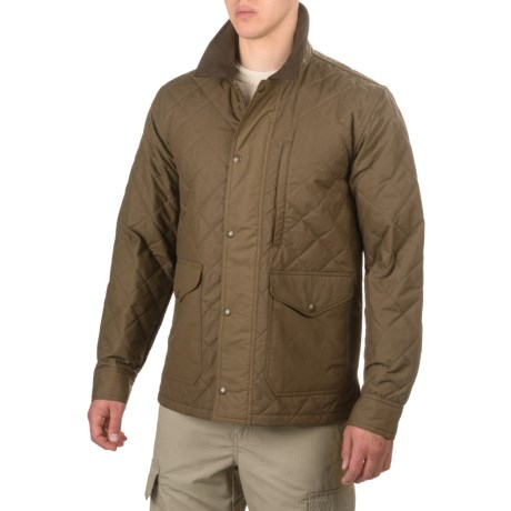 Filson Quilted Mile Marker Jacket - Insulated (For Men and Big Men) in Marsh Olive