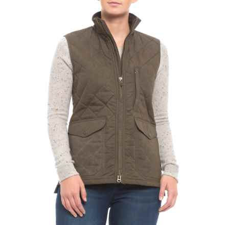 Filson Quilted Mile Marker Vest (For Women) in Otter Green - Closeouts