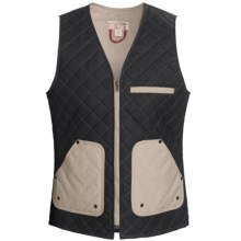 Filson Quilted Vest - Cotton (For Men) in Navy/Tan - Closeouts