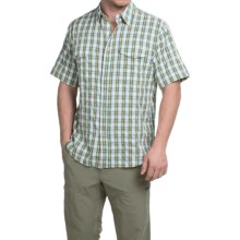 Filson Rainier Shirt - Short Sleeve (For Men) in Amber Green - Closeouts