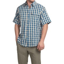 Filson Rainier Shirt - Short Sleeve (For Men) in Aspen Blue - Closeouts
