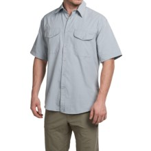 Filson Rainier Shirt - Short Sleeve (For Men) in Stone Blue - Closeouts