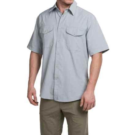 Filson Rainier Shirt - Short Sleeve (For Men) in Stone Blue - Closeouts