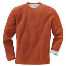 Filson Reversible T-Shirt - Pima Cotton, Long Sleeve (For Men) in Rust - Closeouts