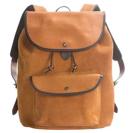 Filson Rugged Leather Backpack in Saddle Brown - Closeouts