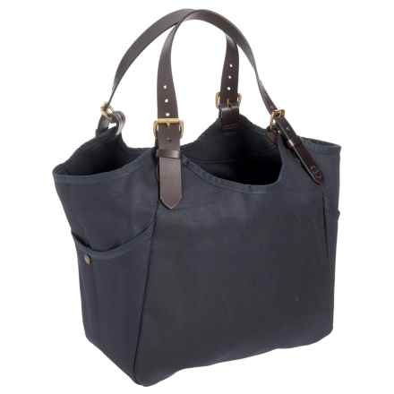 """Filson Rugged Twill Carry-All Tote Bag - 18x14x5.5"""" in Navy - Closeouts"""