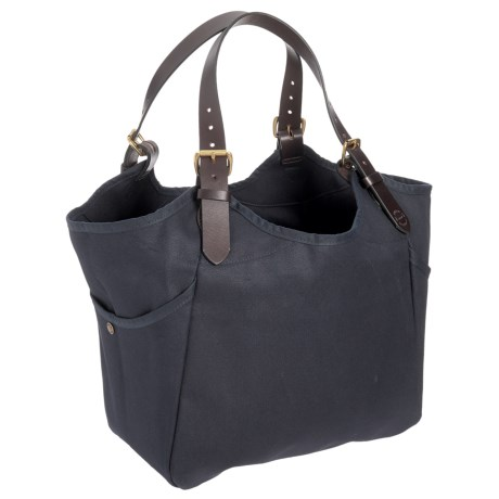 """Filson Rugged Twill Carry-All Tote Bag - 18x14x5.5"""" in Navy"""