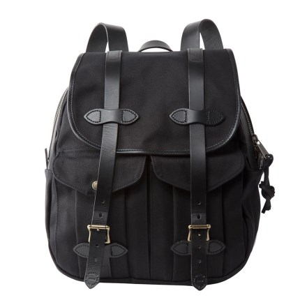Filson Rugged Twill Rucksack Backpack In Black Closeouts