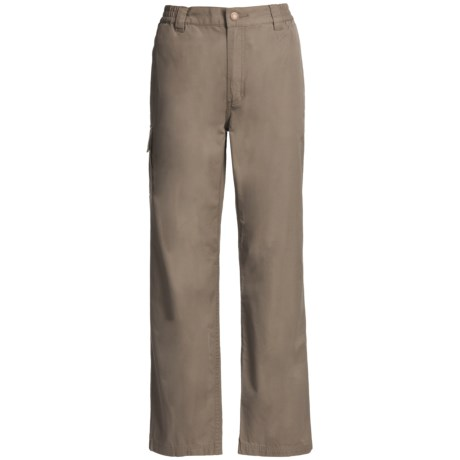 Filson Safari Cloth Travel Pants - Elastic Back, 6 oz. Cotton (For Women) in Olive Green