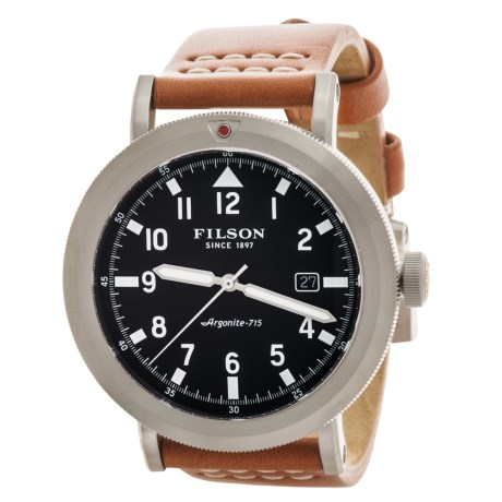 Filson Scout Blue Dial Watch - Bridle Leather Strap