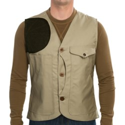 Filson Scout Vest - Oiled Cotton Canvas (For Men) in Khaki