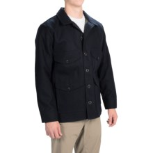 Filson Seattle Cruiser Jacket - Boiled Wool (For Men) in Navy Wool/Olive - Closeouts