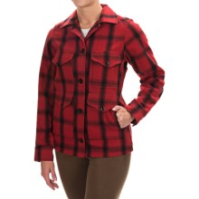 Filson Seattle Cruiser Wool Shirt - Long Sleeve (For Women) in Vintage Red/Black Plaid - Closeouts