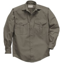 Filson Shelter Cloth Shirt - Long Sleeve (For Men) in Otter - Closeouts