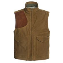 Filson Shelter Cloth Vest - Waxed Cotton (For Men) in Tan - Closeouts