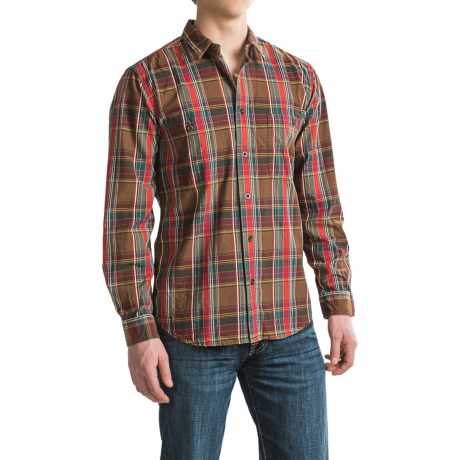 Filson Shirt - Long Sleeve (For Men and Big Men) in Red/Green/Brown