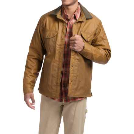 Filson Snap Front Shirt Jacket - Insulated (For Men) in Dark Tan - Closeouts