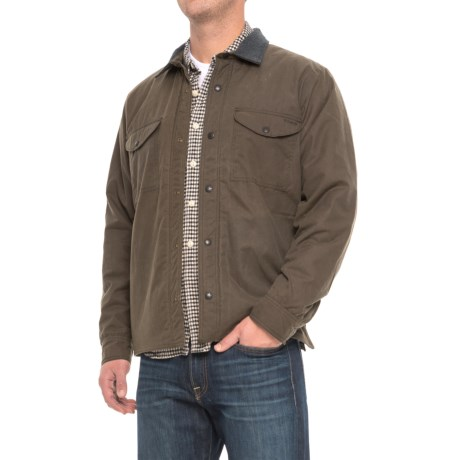 Filson Snap Front Shirt Jacket - Insulated (For Men) in Otter Green