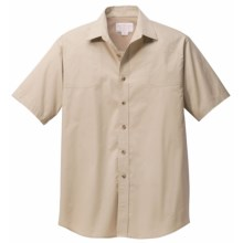 Filson SPF Shooting Shirt - Short Sleeve (For Men) in Desert Tan - Closeouts