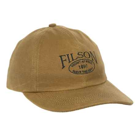 Filson Tin Cloth Low-Profile Baseball Cap (For Men and Women) in Dark Tan - Closeouts