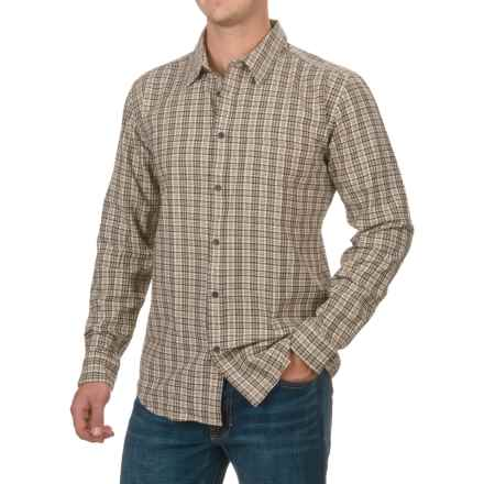 Filson Tracker Flannel Shirt - Button Front, Long Sleeve (For Men and Big Men) in Cream/Dark Brown - Closeouts