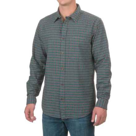 Filson Tracker Flannel Shirt - Button Front, Long Sleeve (For Men and Big Men) in Deep Teal/Brown/Cream - Closeouts