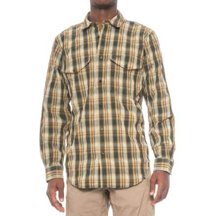 Filson Twin Lakes Sport Shirt - UPF 30+, Long Sleeve (For Men) in Green/Tan Plaid - Closeouts