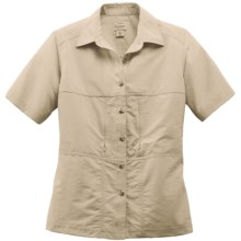 Filson Voyage Shirt - Cotton Poplin Blend, Short Sleeve (For Women) in Desert Tan - Closeouts