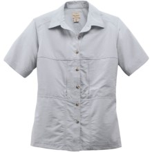 Filson Voyage Shirt - Cotton Poplin Blend, Short Sleeve (For Women) in Dovetail Grey - Closeouts