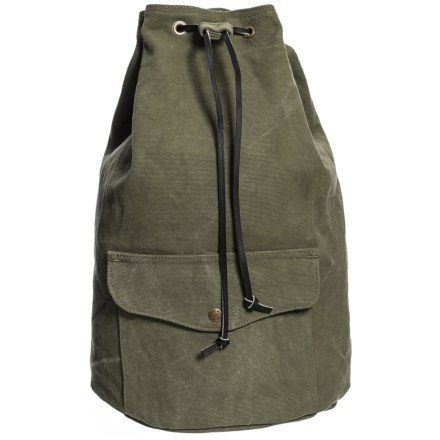 39834dce28e5 Filson Washed Canvas 13L Cinch Backpack in Otter Green - Closeouts
